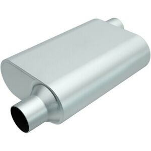 Magnaflow Perf Exhaust Rumble Aluminizd Muffler 2 5in Offset In out P n R22543