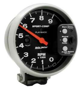 Auto Meter 5in S c 9000 Rpm Playback Tach P n 3966