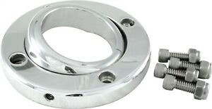Borgeson Swivel Floor Mount For 2in Steering Column Polished Aluminum