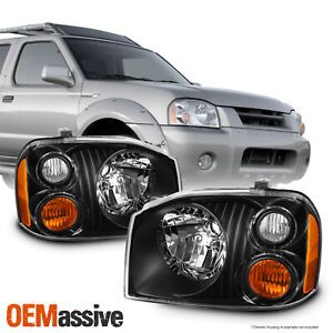 2 Pcs For 01 04 Nissan Frontier Oe Headlights Housing Right Left Black
