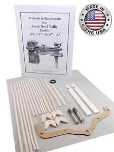 New South Bend Lathe 14 1 2 Rebuild Manual And Parts Kit All Versions