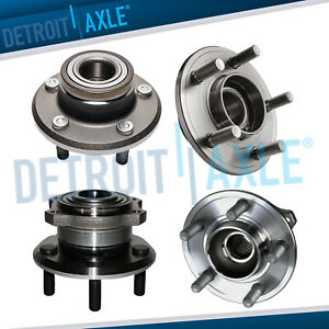 2wd Front Rear Wheel Bearing And Hub Assembly For 2005 2009 Charger 300 Magnum