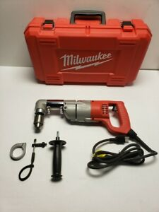 Milwaukee 7 Amp Corded 1 2 Corded Right angle Drill Kit W hard Case 1107 1 cc