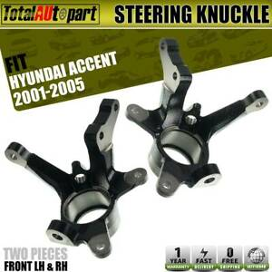 2x Steering Spindle Knuckle Front Left Right For Hyundai Accent 2001 2005 1 6l