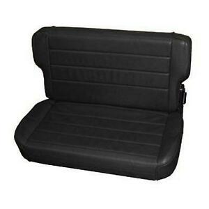 Smittybilt Fold And Tumble Rear Seat Black 41315