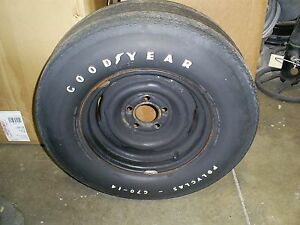 Goodyear Polyglas G70 14 On Original Gm Rim Excellent Correct Spare Used