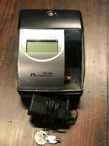 Acroprint Es700 Time Recorder Key Power Supply Included No Reserve