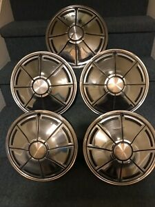 Vintage Set Of 5 Dodge Dart Plymouth Valient 14 Hubcaps