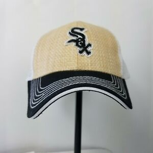 Chicago White Sox Baseball hat staw woven front Snap Back coca cola patch