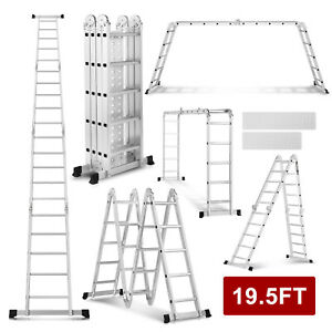 10 5 12 5 15 5 16 5 19 5ft Multi purpose Ladder Aluminum Extend Telescopic Tools