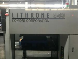 Komori S440 c Uv Coater 4 Color Press 2008 ali 104826