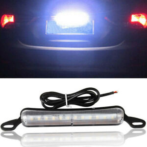 Universal Car Xenon White 12 Smd Bolt On Led License Plate Light Lamp