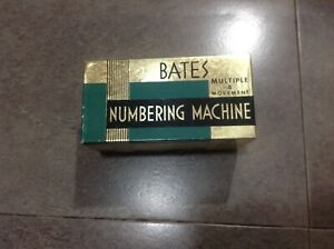 Rare Old Vintage Stamp Tool Automatic Numbering Machine Bates Multiple Movement
