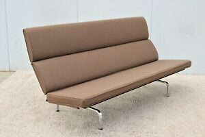 Mid Century Modern Charles And Ray Eames For Herman Miller Eames Sofa Compact