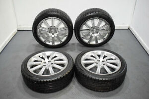 Used Set Of Jdm Forester Sti Sg5 Sg9 18x7 5 Enkei 5x100 Wheels 48 Clears Brembo