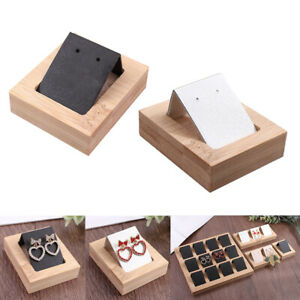 2 Pieces Earring Card Holder Tray Showcases Organizer Display Decoration
