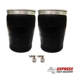 2 Universal 1 2 Tapered Sleeve Air Bags spring ride Suspension Heavy W fittings
