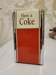 Vintage COCA COLA Napkin Holder Dispenser Metal Chrome soda machine diner decor