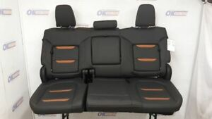 19 Gmc Sierra 1500 At4 Oem Complete Rear Seat Assembly Black Leather And Tan
