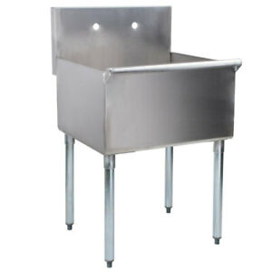 Commercial Utility Sink Prep Hand Wash Laundry Tub Stainless Steel 24 X 24 X 14