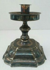 Vintage Antique Denmark El Co Sterling Silver Weighted Candlesticks Holder