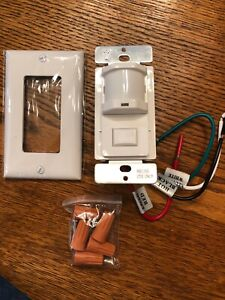 Occupancy Vacancy Wall Decora Motion Sensor Detector 120v Switch White New