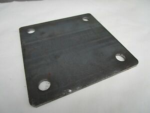 1 4 250 Steel Plate Sheet 1 4 X 6 X 6 4 Piece Set 9 16 Holes