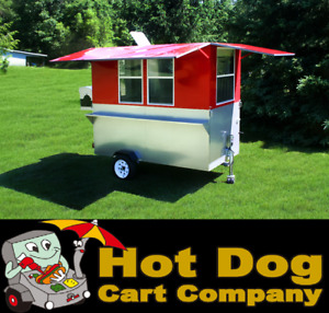 Enclosed Hot Dog Cart Vending Concession Trailer Stand New Weenie Wagon Cart