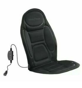 Goodyear Heated Auto Seat Cover Cushion Universal Fit 2 Heat Modes 12v Dc Cord