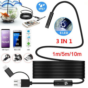 Wifi Endoscope Wireless 6led Ip67 Borescope Inspection Camera For Android Pc