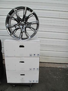 22 New Jeep Grand Cherokee Srt8 Style Set Of Four Hyper Grey Wheels Rims 9113