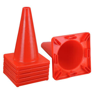 6pcs 17 034 Traffic Cones Overlap Parking Construction Emergency Road Safety C