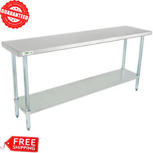 New Commercial 18 X 72 Stainless Steel Work Prep Table With Undershelf