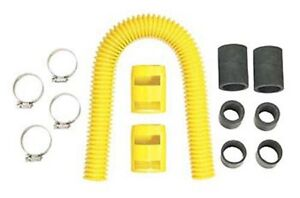 Mr Gasket 11010y Yellow Stainless Steel Flexible Universal 24 Radiator Hose Kit