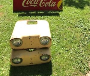 Rare Vintage Case Tractor Front End W 2 Lights Price Is Per Each Offers Ships
