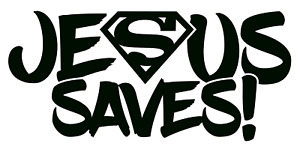 Jesus Saves Superman Vinyl Decal Bumper Sticker Christian Windows Outdoors