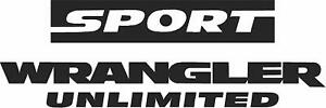 Unlimited Sport Wrangler Refresh Kit 2006 2014 Vinyl Stickers Set