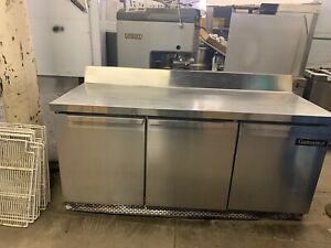 Continental Sw 72 Used 72 Refrigerated Worktop Cooler Prep Table