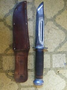 NICE WW 2 US COMBAT KNIFE BY PAL quot;RH PAL 36quot; 6quot; BRIGHT BLADE WITH SHEATH $150.00