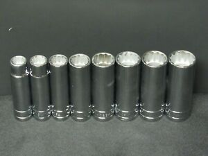 New Sk Tool 8 Piece 1 2 Drive Socket Set Sae 12 Point Deep Well 1 2 15 16 Usa
