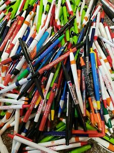 2 Lbs Wholesale Lot Misprint Ink Pens Ball Point Retractable Huge Mixed Lot