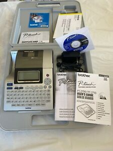 Brother P touch Pt 2710 Thermal Label Printer W Case Power Cord Tested Works