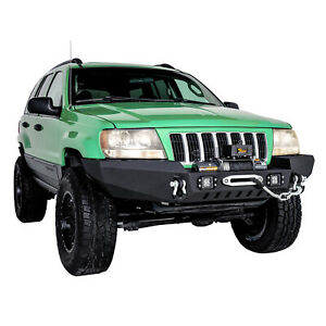 Tidal Fit For 99 04 Jeep Grand Cherokee Wj Off Road Front Bumper W Led Lights