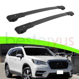 Us Stock Black Cross Bar For Subaru Ascent 2019 2021 Baggage Roof Rack Rail