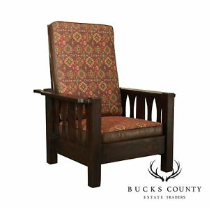 Antique Mission Oak Morris Chair