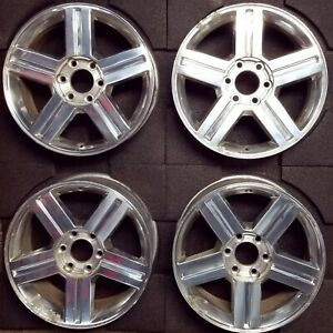 18 Chevrolet Trailblazer 2007 2009 Set Of 4 Wheels Pims Polished Oem 5311