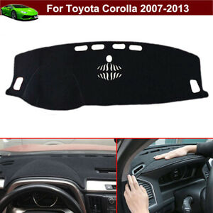 Non slip Dashboard Carpet Dash Cover Dash Mat Parts For Toyota Corolla 2007 2013