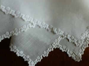 Antique Bridal Wedding Bridal Hanky Whitework Embroidery Hand Done