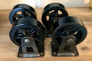 5 New Industry Caster cart Wheels set Of 4