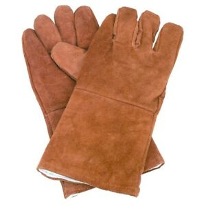 New 14 Brown Leather Cowhide Welding Gloves Protect Welder Hands